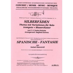 Silberfäden, Thema mit Var. für Solotrompete und Blasorchester