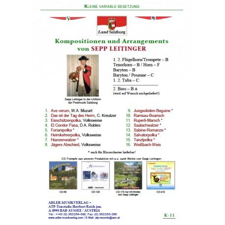 Kompositionen und Arrangements von Sepp Leidinger