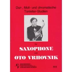 Dur-, Moll- und chromatische Tonleiter-Studien für Saxophone
